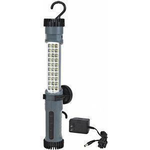 LUMAPRO 52YK80 LED Rechargeable Hand Lamp, 3 Lamp Watts, Cordless Cord Length, Black/Gray | CD2LLX 52YK80