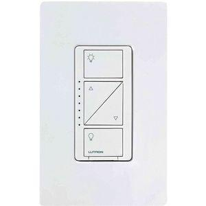 LUTRON PD-6WCL-WH Push Button Wireless Lighting Dimmer, CFL, Halogen, Incandescent   CD3HMA 32JA44