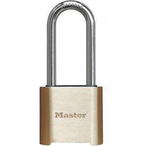 MASTER LOCK 975DLHCOM Combination Padlock, Resettable Bottom-Dial Location, 2 Inch Shackle Height | CD3HMB 33RL41