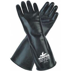 MCR SAFETY CP14XL Chemical Resistant Gloves, Size XL, 14 Inch L, Black | CD2YTG 48GH52