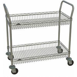 METRO H3C-2 CC9744A-4 2 4LD-4 Wire Basket Cart, 375 Lbs. Load Capacity, 36 Inch L x 18 Inch W x 38 Inch H | CD2WNP 45TY51