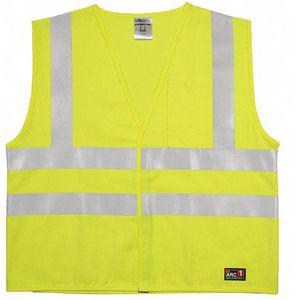 ML KISHIGO GF186-S-M Flame Resistant Vest, Lime With Silver Stripe, Hook-and-Loop Closure, S/M | CD3RFF 426M27