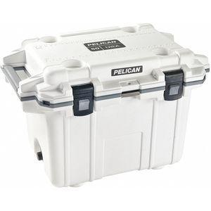 PELICAN 50Q-1-WHTGRY Marine Chest Cooler, Plastic, 50 Qt. Capacity, Ice Retention Up to 10 days | CD2YVP 52PF65