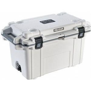 PELICAN 70Q-1-WHTGRY Marine Chest Cooler, Ice Retention Up to 10 days, Plastic, 70 Qt. Capacity | CD3AWW 52PF69