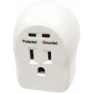 POWER FIRST 52NY47 Surge Protector Plug Adapter, White | CD2FJF 52NY47