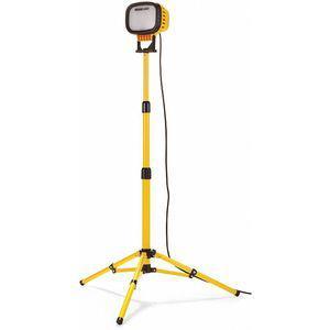 PROLIGHT 515103 72W LED Tripod Temporary Job Site Light, Black/Yellow, 6000 Lumens | CD2MUH 422U98