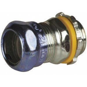 RACO 2904RT EMT Compression Connector, 1 Inch, Rain Tight, 1-29/32 Inch Overall Length | CD3KHP 52AU74