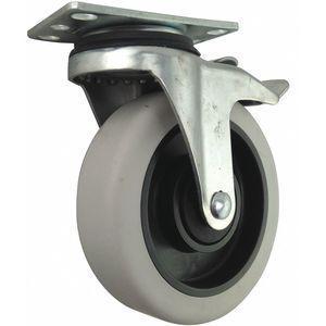 GRAINGER 400K28 5 Inch Light-Medium Duty Swivel Plate Caster, 400 Lbs. Load Rating | CD2MNF 400K28