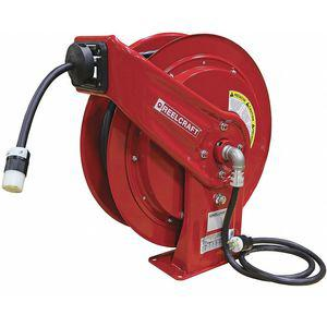 REELCRAFT L 70075 123 3A Industrial Retractable Cord Reel, 120 VAC, Number of Outlets 1 | CD3PRQ 451N69
