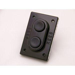REES 00579-101 Pulsante doppio, pistone, plastica, nero / nero | AX3KQX