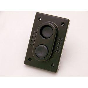 REES 00580-001 Double Push-button, Plunger, Plastic, Black/black   AX3KQZ