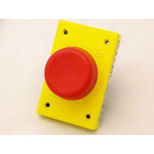 REES 00662-002 Pulsante a stantuffo, plastica, fungo, rosso   AX3KRC