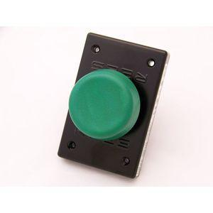 REES 00662-003 Pulsante a stantuffo, plastica, fungo, verde | AX3KRD