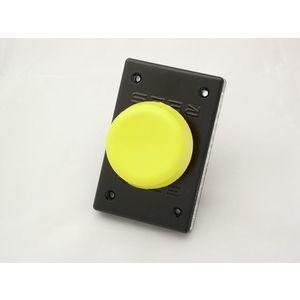 REES 00662-004 Pulsante a stantuffo, plastica, fungo, giallo | AX3KRE