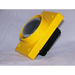 REES 01371-512 Pulsante, pulsante a fungo, cromato, con schermo, giallo   AX3KTG