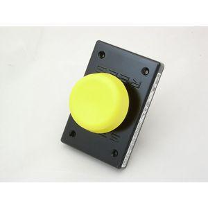 REES 01461-104 Pulsante a stantuffo, a fungo, plastica, giallo | AX3KTK