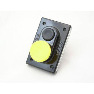 REES 01619-014 Pulsante a doppio pistone, plastica, nero / giallo | AX3KTR