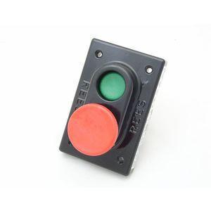 REES 01968-032 Pulsante a doppio pistone, verde / rosso | AX3KUB