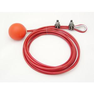 REES 02005-822 Gruppo cavo / maniglia, vinile, rosso   AX3KVJ