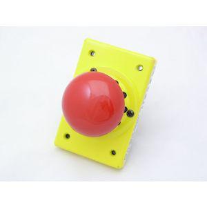 REES 02049-002 Mushroom Plunger Push-button, Metallic, Red | AX3KVR