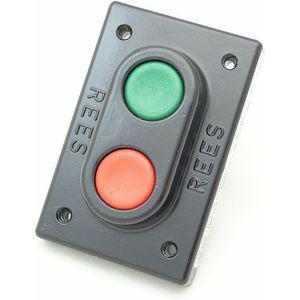 REES 02140-032 Double Push-button, Plunger, Plastic, Red/green   AX3KVT