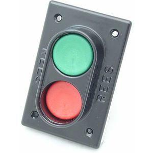 REES 02169-032 Pulsante doppio, pistone, plastica, rosso / verde | AX3KVU