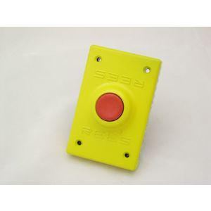REES 02221-002 Pulsante a pistone, rosso, plastica | AX3KWB
