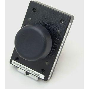 REES 02510-001 Pulsante di arresto di emergenza, chiusura a molla, nero   AX3KWF