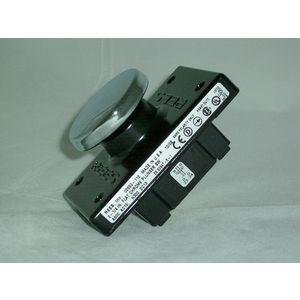 REES 02653-112 Interruttore a pulsante, piatto cromato, polvere secca nera | AX3KWN