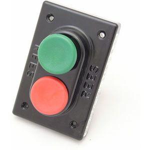REES 02712-032 Pulsante a doppio pistone, plastica, verde / rosso | AX3KWP