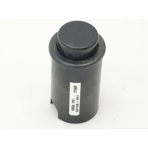 REES 02738-001 Cylindrical Push-button, Black Shell | AX3KWT
