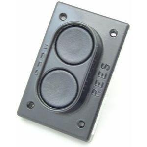 REES 02810-001 Pulsante a doppio pistone, misura 1-3 / 8, nero | AX3KXA
