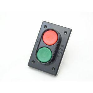 REES 02810-032 Pulsante a doppio pistone, misura 1-3 / 8, verde / rosso | AX3KXB