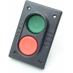 REES 02810-132 Pulsante a doppio pistone, misura 1-3 / 8, verde / rosso | AX3KXC