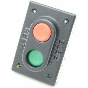 REES 02883-032 Pulsante a doppio pistone, misura 1-3 / 8, verde / rosso   AX3KXD