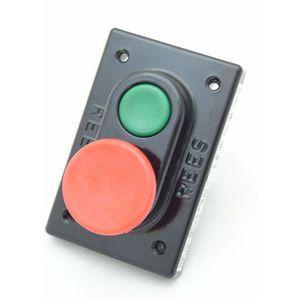 REES 03605-032 Pulsante a doppio pistone, verde / rosso   AX3KXX