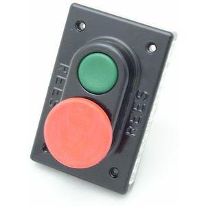 REES 03605-132 Double Plunger Push-button, Green/red | AX3KXY