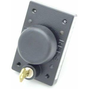 REES 03855-001 Pulsante a pistone con serratura a chiave, Nero | AX3KYC