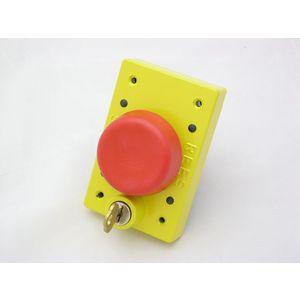 REES 03855-002 Pulsante a pistone con serratura a chiave, rosso | AX3KYD