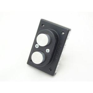 REES 03924-000 Pulsante a doppio pistone, satinato / metallo | AX3KYF