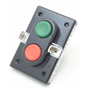 REES 04062-032 Pulsante a doppio pistone, verde / rosso, misura 1/1   AX3KYG