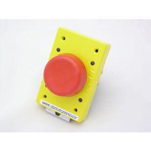 REES 04161-102 Pulsante a fungo a stantuffo con chiusura, rosso | AX3KYN