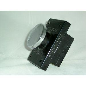 REES 04917-012 Pulsante a pistone, cromato, piatto   AX3KZA