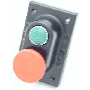 REES 04947-132 Pulsante a stantuffo in plastica, verde / rosso, misura 1 // 1.75 | AX3LBH