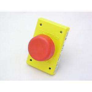 REES 04948-002 Pulsante spaccalegna, rosso-giallo | AX3LBK