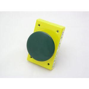 REES 04957-003 Pulsante piatto cromato, a scatto, verde   AX3LCR
