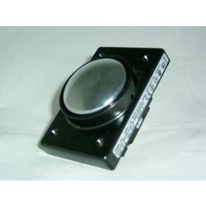 REES 04960-112 Mushroom Plunger Push-button, Shielded, Chrome | AX3LDA