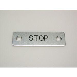 REES 09001-003 Legend Plate, Standard, Stop | AX3LEM