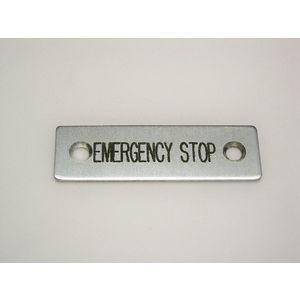 REES 09001-004 Targhetta legenda, standard, arresto di emergenza   AX3LEN