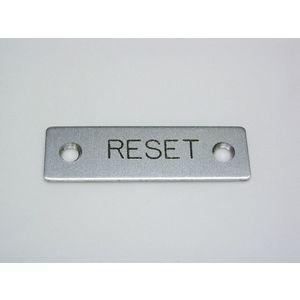 REES 09001-009 Legend Plate, Standard, Reset | AX3LEU